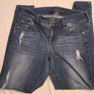 Torrid HighWaisted Distressed Button Fly Size 12R